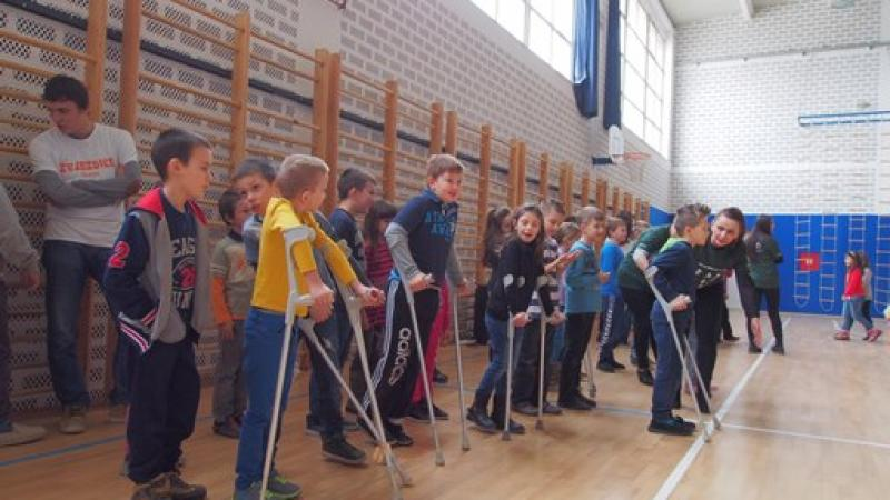 Paralympic school day in Croatia