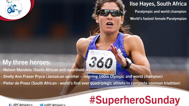 World's fastest female Paralympian, Ilse Hayes, gives an insight into her three heroes.