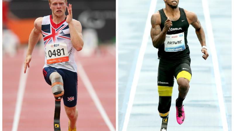 Great Britain's Jonnie Peacock and the USA's Richard Browne may be big rivals on the track.
