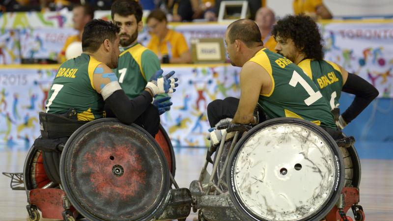 Brazilian Wheelchair Rugby team.