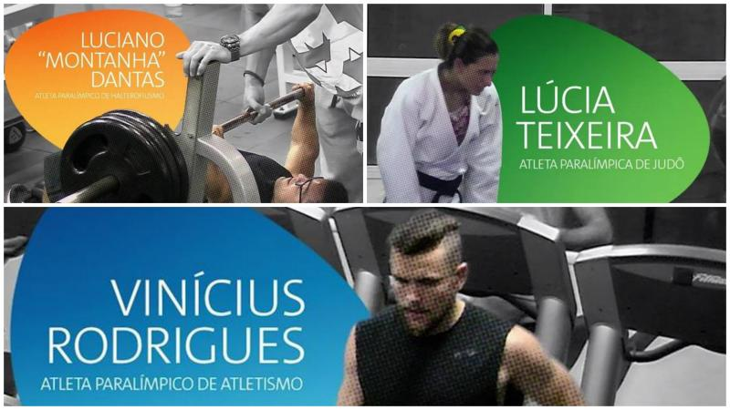 Powerlifter Luciano Dantas, visually impaired judoka Lucia Teixeira and sprinter Vinicius Rodrigues.