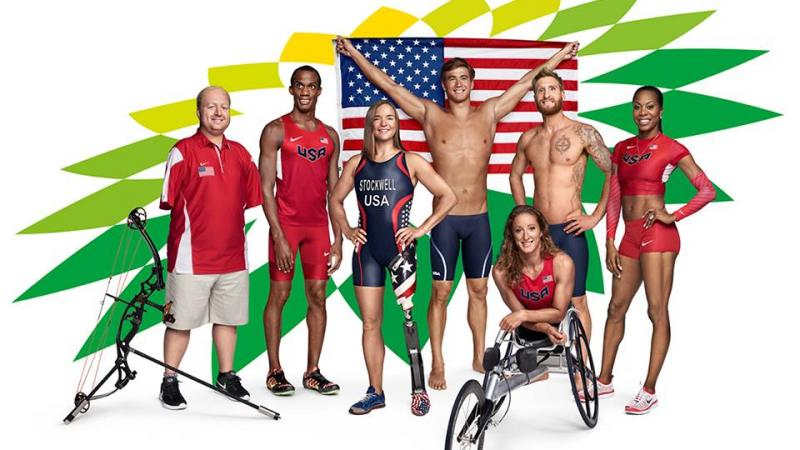 Matt Stutzman, Lex Gillette, Melissa Stockwell, Nathan Adrian, Brad Snyder, Sanya Richards-Ross and Tatyana McFadden.