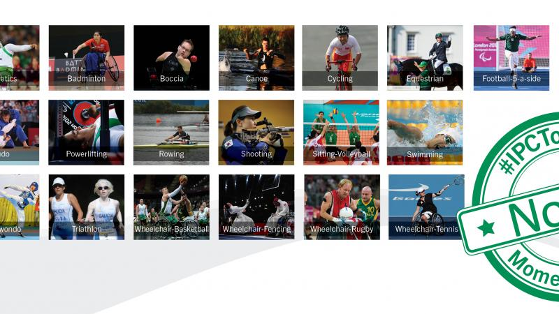 Collage of para-sport images