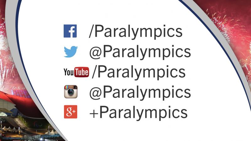 Graphic showing all social platforms with the text Paralympics