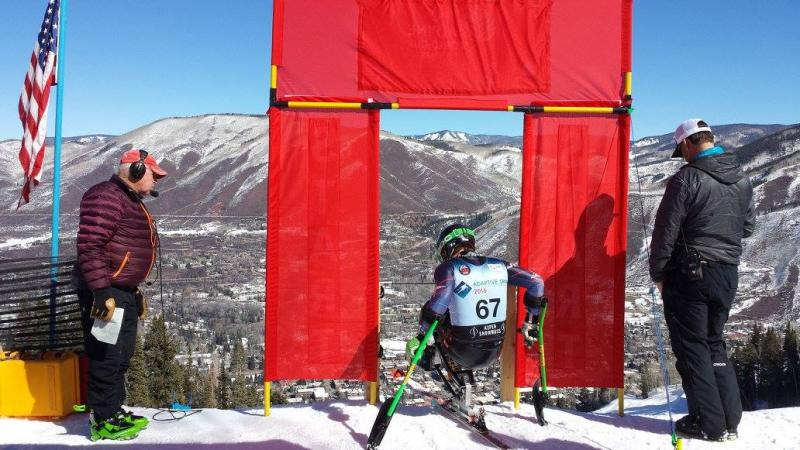 Andrew Earl Kurka at the IPC Alpine Skiing World Cup Finals in Aspen.