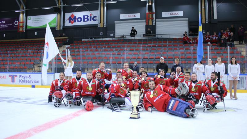 Russia become the European champion in ice sledge hockey.