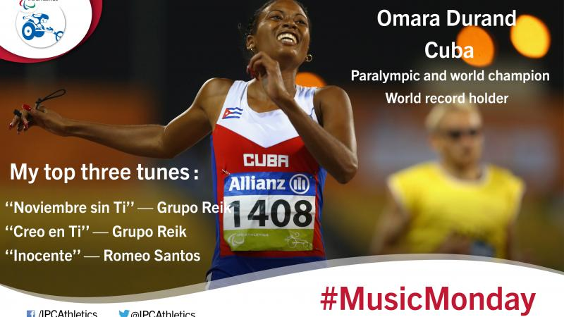 The world's fastest female Paralympian shares her three favourite songs