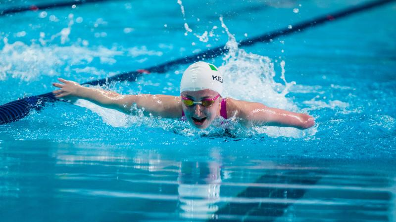 Ellen Keane of Ireland competes at the 2016 IPC Swimming European Open Championships in Funchal, Portugal.