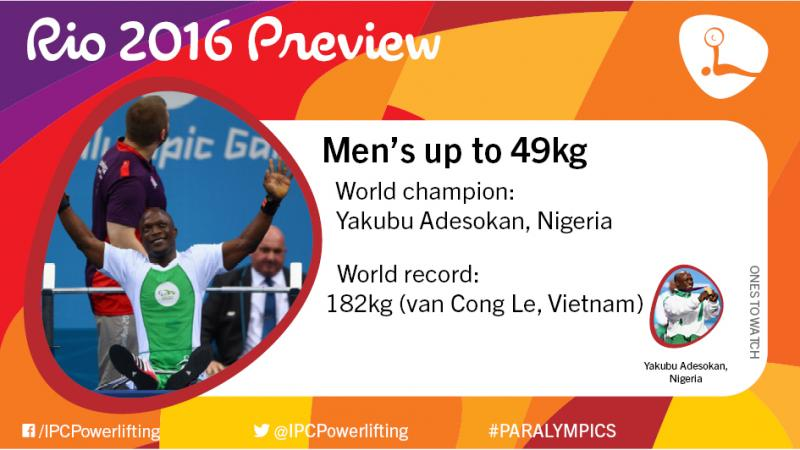 Graphic with some information about the men's up to 49kg competition at the Rio 2016 Paralympics