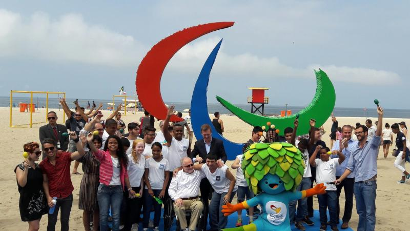Agitos symbol unveiled on Copacabana Beach.