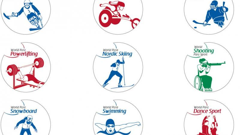 New logos of the sports governed by the IPC