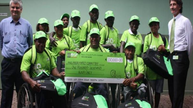 PNG Paralympic Committee partnership with Bank South Pacific (BSP)