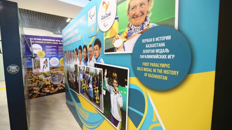 An exhibition was opened in Almaty that highlights some of the nation's Paralympic medallists from Rio 2016.