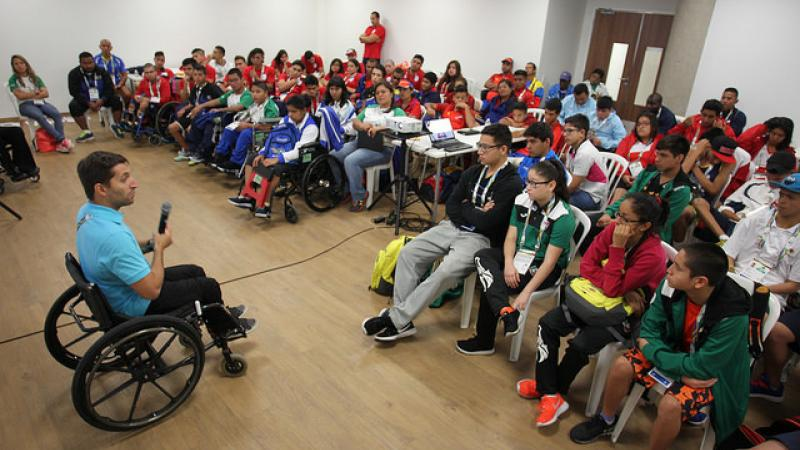 Young Para athletes gather for training sessions that will help their future careers.