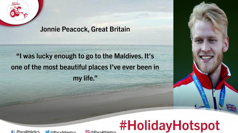 Holiday hotspot with Great Britain's Jonnie Peacock