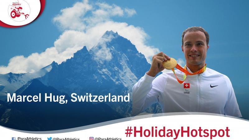Holiday hotspot with Switzerland's Marcel Hug