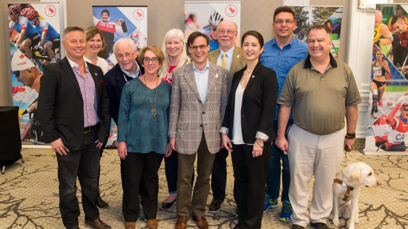The new board of the Canadian Paralympic Committee elected in April 2017.