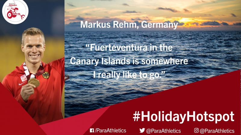 Paralympic, world and European long jump T44 champion Markus Rehm explains his favourite place for vacation.