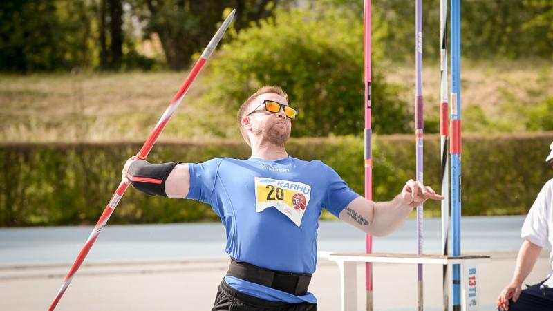 Helgi Sveinsson broke his own javelin F42 world record at the 2017 World Para Athletics Grand Prix in Italy.