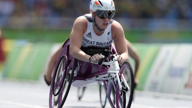 Great Britain's Samantha Kinghorn in action at the Rio 2016 Paralympic Games.