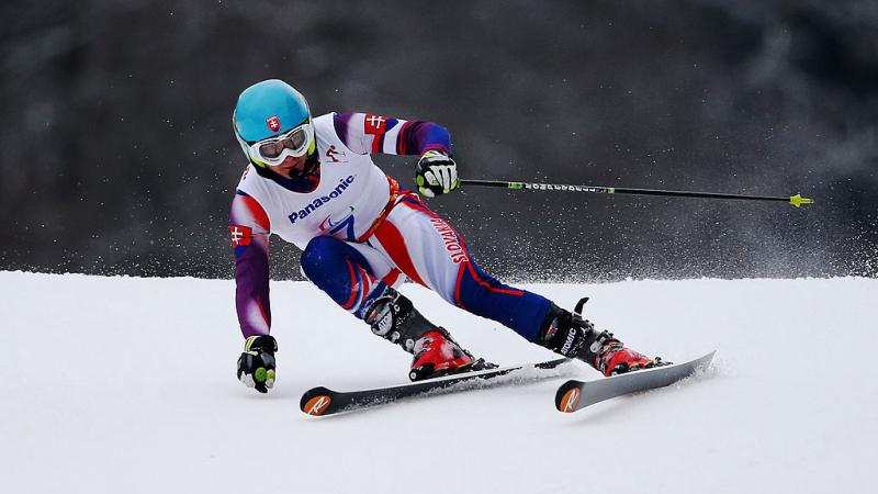 Slovakia's Jakub Krako on the course in Sochi