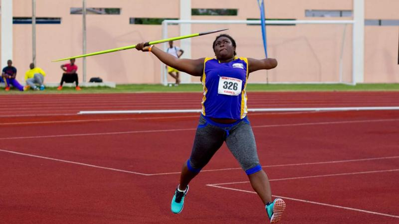 woman throwing a javelin