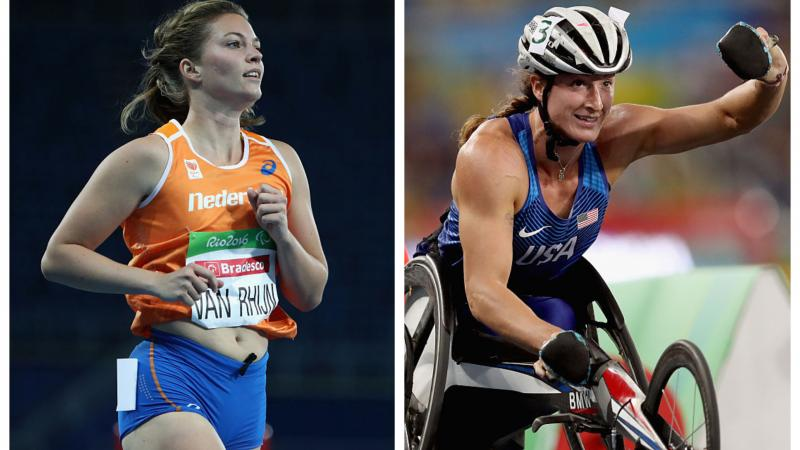 two female para athletes
