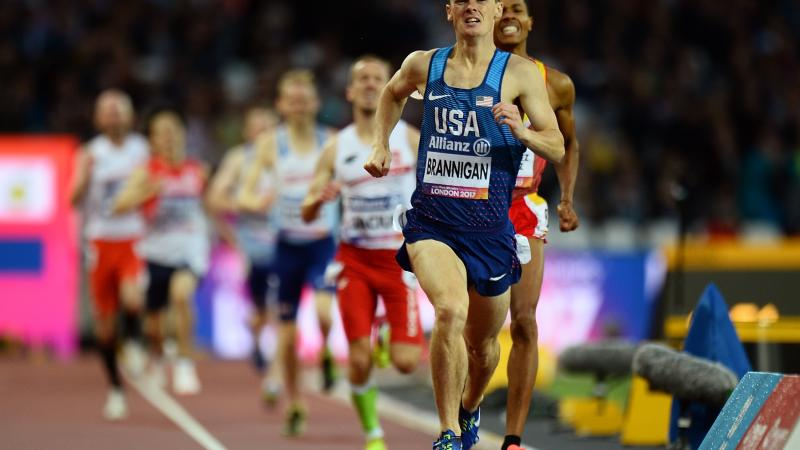 The USA's Michael Brannigan in action at the World Para Athletics Championships London 2017.