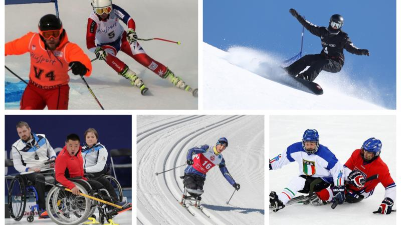 winter Para athletes compete at snowboarding, skiing, ice hockey and curling