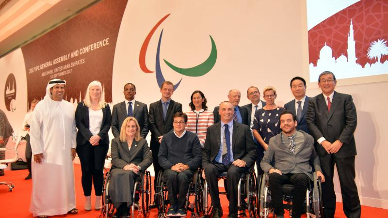 The IPC Governing Board following its election at the 2017 IPC General Assembly.