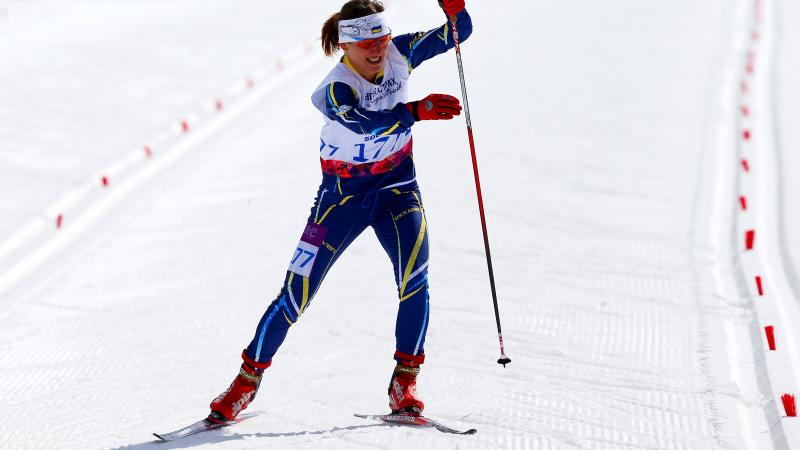 a female Para Nordic skier