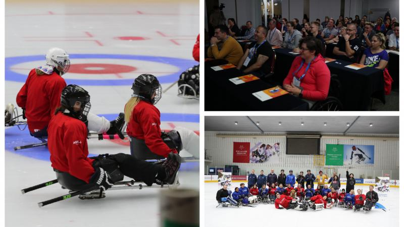 Para ice hockey workshop collage