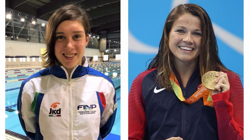 two female Para swimmers