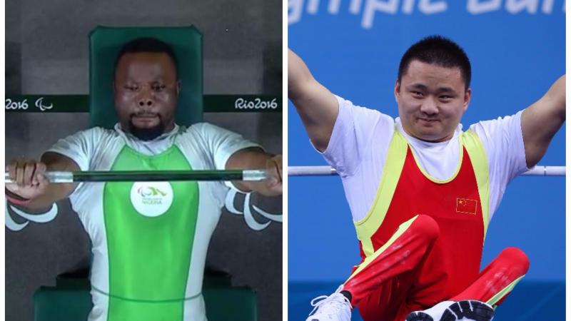 two male Para powerlifters