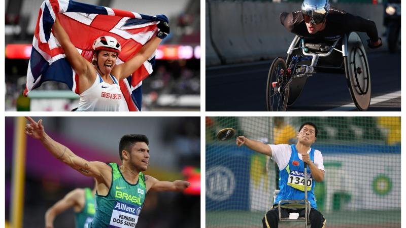 four Para athletes competing at their sports