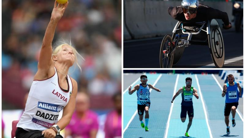 Para athletes competing in track and field events