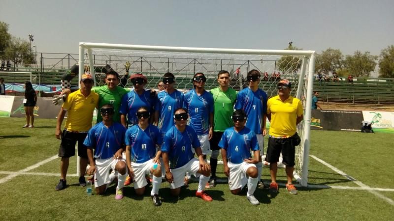 Colombian blind football team