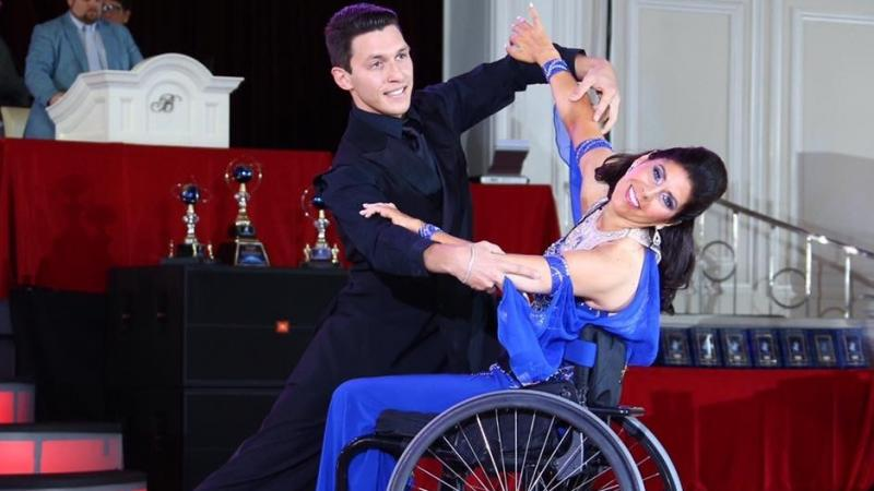 a male and female Para dance couple