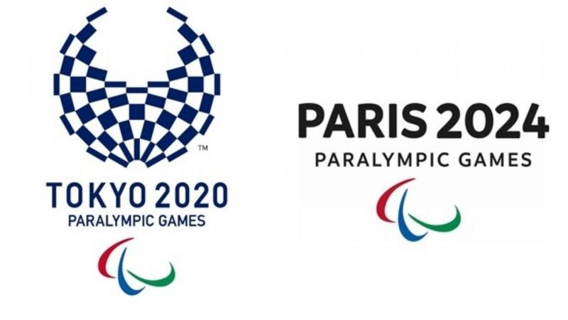 the official logos of the Tokyo 2020 and Paris 2024 Paralympic Games
