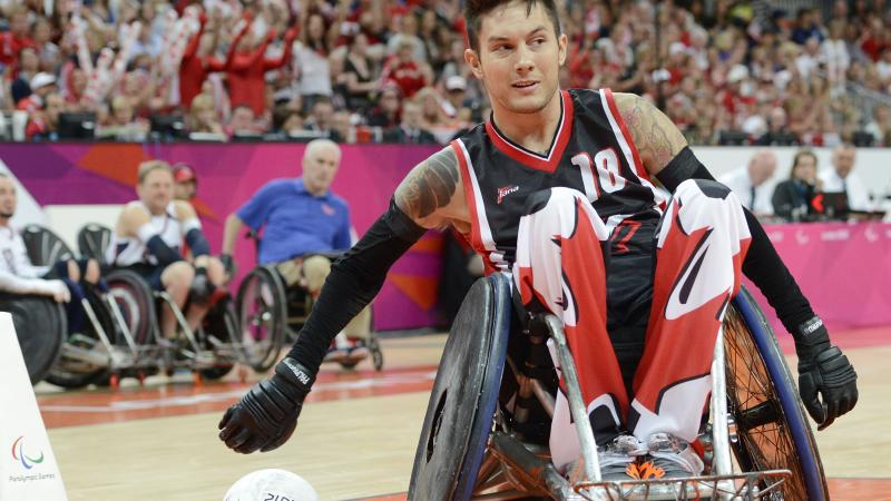male wheelchair rugby player Trevor Hirschfield