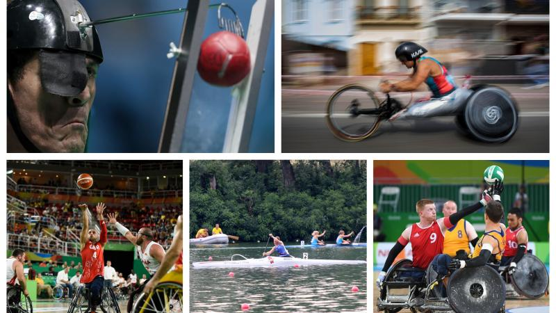 athletes competing at boccia, canoe, wheelchair basketball, wheelchair rugby and cycling