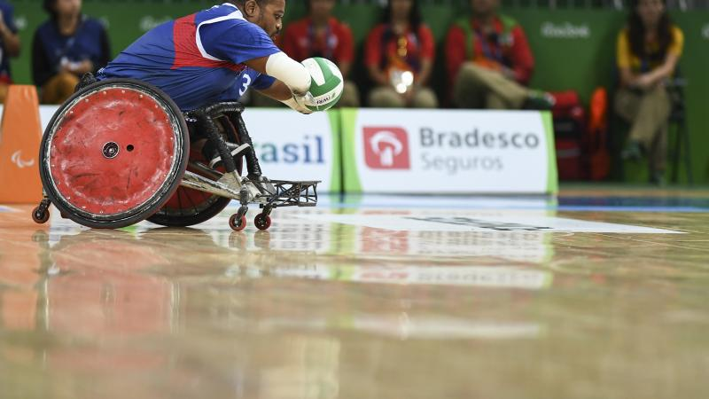 France´s wheelchair rugby player Cedric Nankin