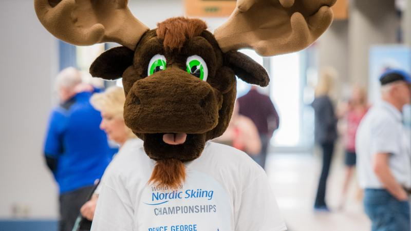 the official mascot of Prince George 2019, Fraser the Moose