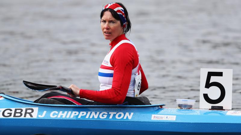 female Para canoeist Jeanette Chippington