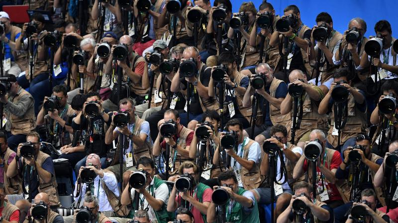 Accredited photographers in Rio 2016
