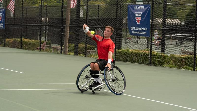 Alfie Hewett competing at the last Super Series of 2018