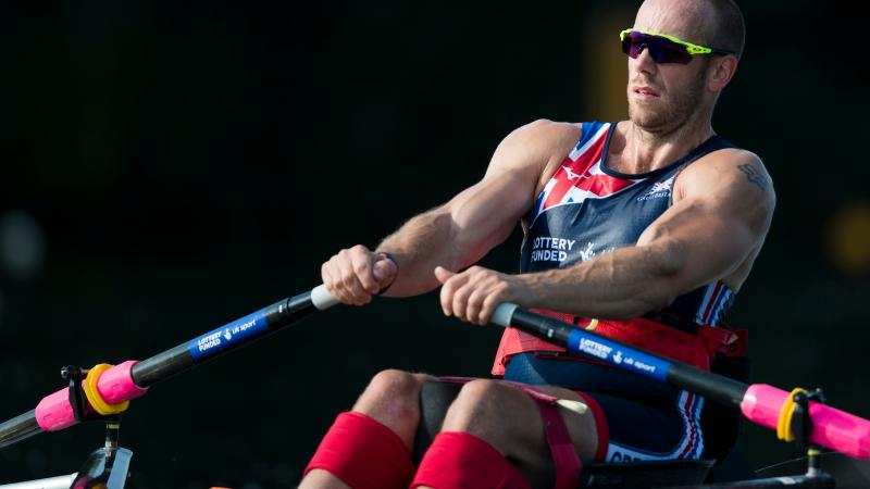 male Para rower Andrew Houghton