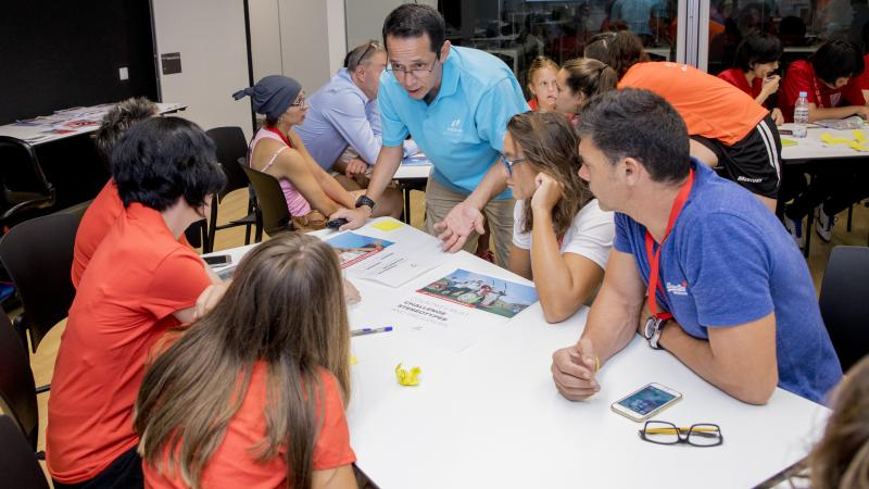 Athletes take part in Proud Paralympian workshop in Sant Cugat, Spain