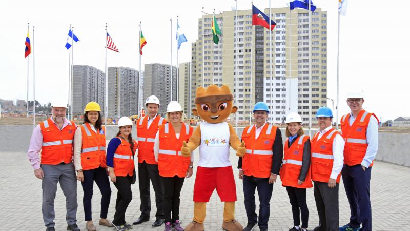 Members of the APC and IPC toured the Lima 2019 Athlete Village with 10 months to go