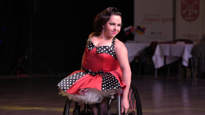 Wheelchair dancer Helena Kasicka while competing